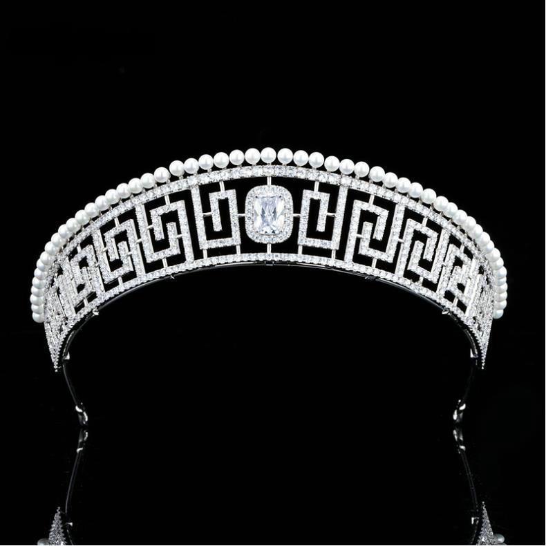 EillyRosia-Corona de boda con zirconia cúbica, Accesorios para el cabello, joyería de...