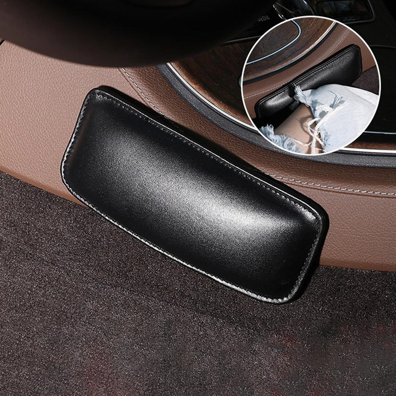 1pcs Universal Car Leg Cushion Knee Pad Leather Latex Sponge Support Pillow Protector Door Armrest Pad Car Interior Accessories