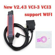 Последняя V2.43 VCI 3 VCI3 сканер поддерживает WI FI для грузовика Scania грузовых автомобилей автобусов и тяжелых транспортных средств после 2004 года системы диагностики инструмент