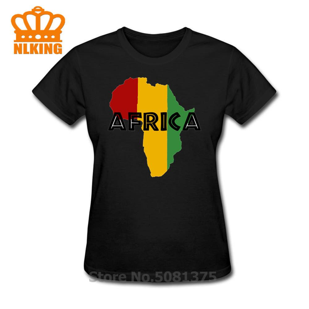 África Rasta un homenaje A la madre patria mamá África en un reggae rasta estilo t camisas para mujeres, t camisa de moda de algodón camiseta