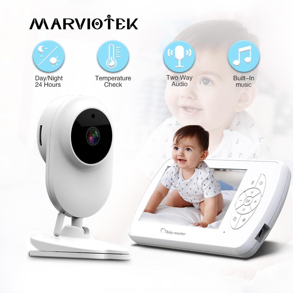 4.3 بوصة 1080P مراقبة الطفل اتجاهين الصوت فيديو مربية كاميرا مراقبة للمنزل Babyphone كاميرات للرؤية الليلية مراقبة درجة الحرارة