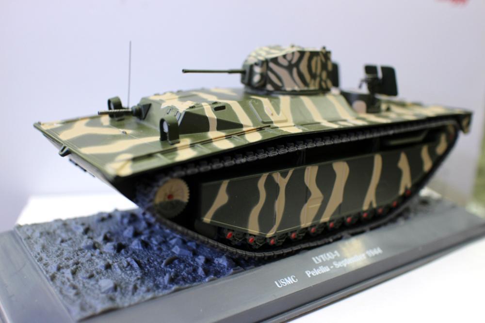 Alyak-tanque fundido A presión para colección, escala 1/43 LVT (A) -1 USMC...
