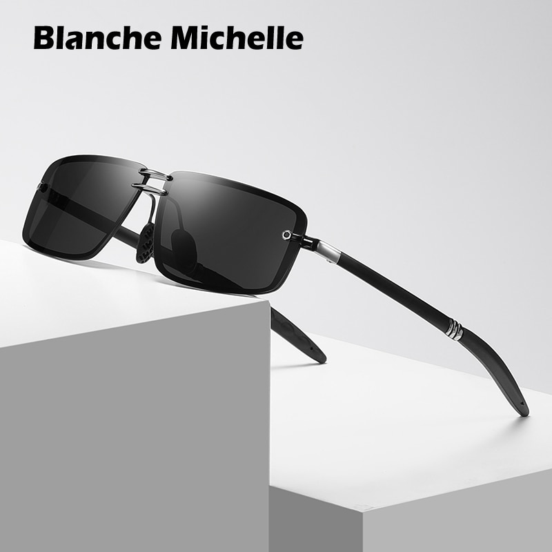 Мужские прямоугольные солнцезащитные очки UV400, винтажные брендовые дизайнерские солнечные очки для вождения, солнцезащитные очки с коробк...