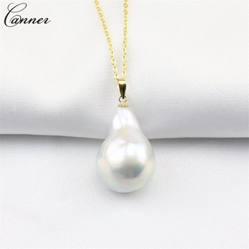 Collar barroco a la moda, collar Irregular de perla de agua dulce para mujer, cadena de Color dorado, collar de moda, regalos de joyería Q40
