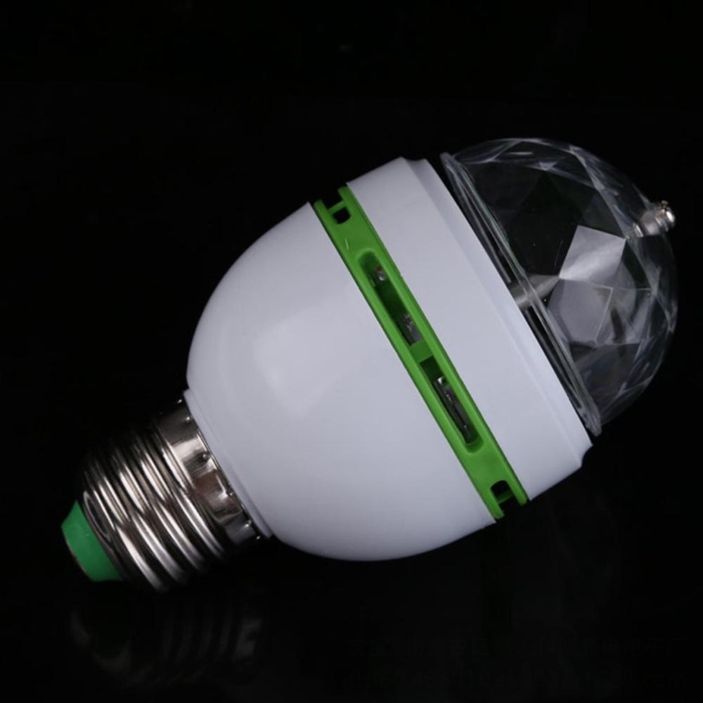 3 Вт E27 светодиод RGB лампа цветной авто вращающийся проектор кристалл светодиод сцена свет магия мяч DJ вечеринка дискотека эффект лампа