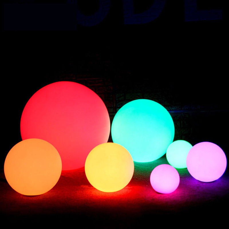Waterproof Garden Ball LED Lights Outdoor Lawn Lamps Rechargeable Christmas Party RGB Landscape Swimming Pool Floating Lighting