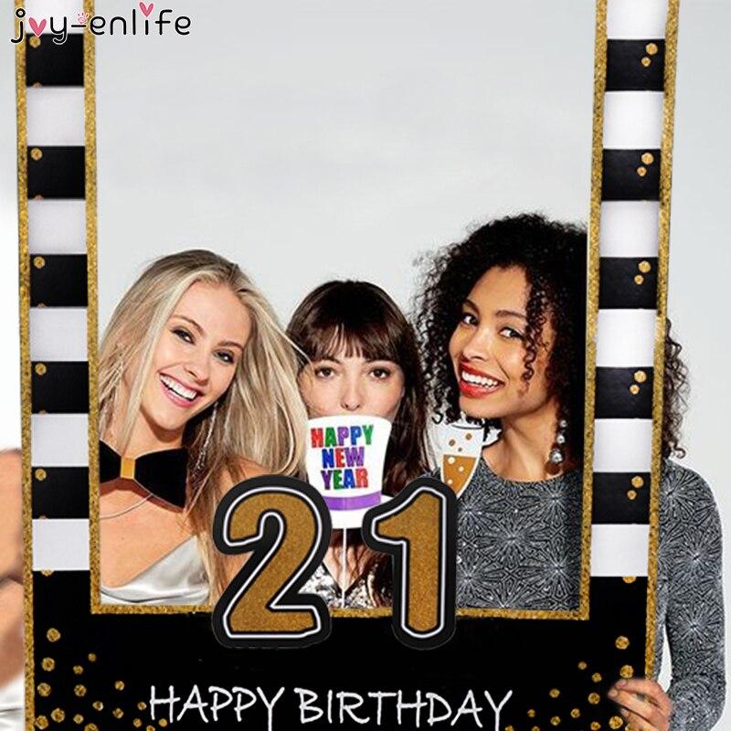 Cabina de fotos Joy-Enlife 1st 21st 30th 40th 50th 60th, marco de cabina de fotos de feliz cumpleaños, accesorios de decoración para fiesta de cumpleaños de bebé, cabina de fotos