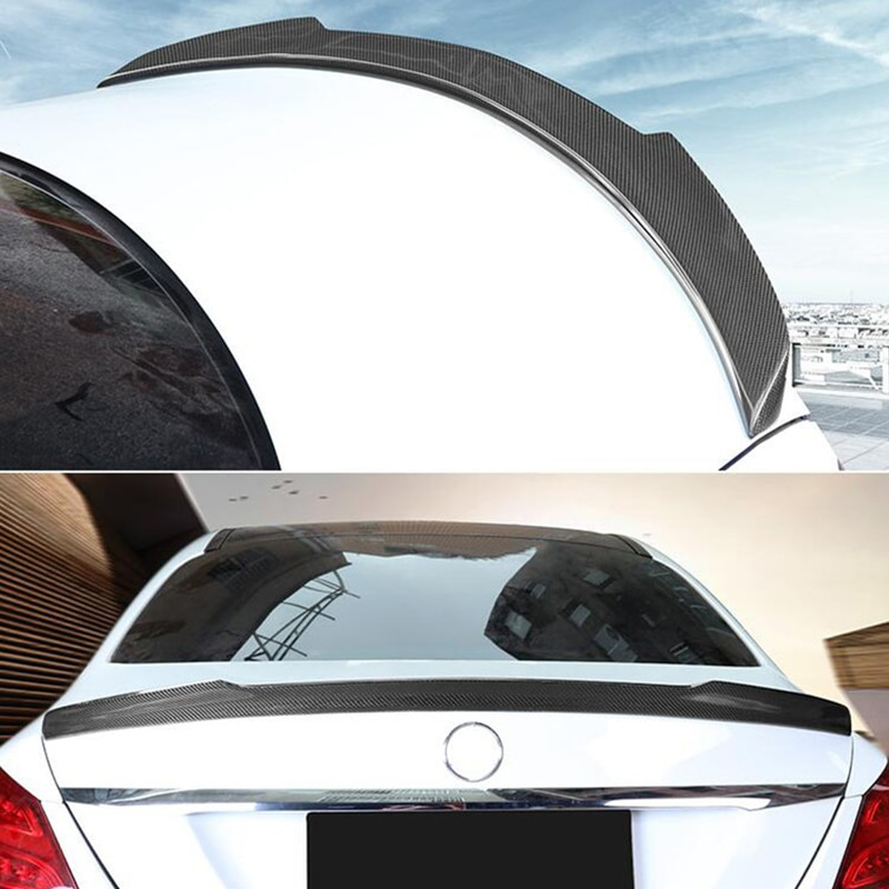 FOR Benz E-class W205 FD Style Real Carbon Fiber Spoiler Accessories C180C200C300 C260 Car Trunk Win