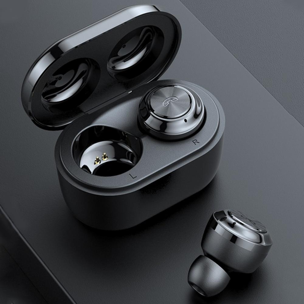 Miniauriculares intrauriculares TWS BT5.0, auriculares inalámbricos auténticos con Bluetooth, auriculares de conducción para coche, auriculares de negocios para Android/iOS