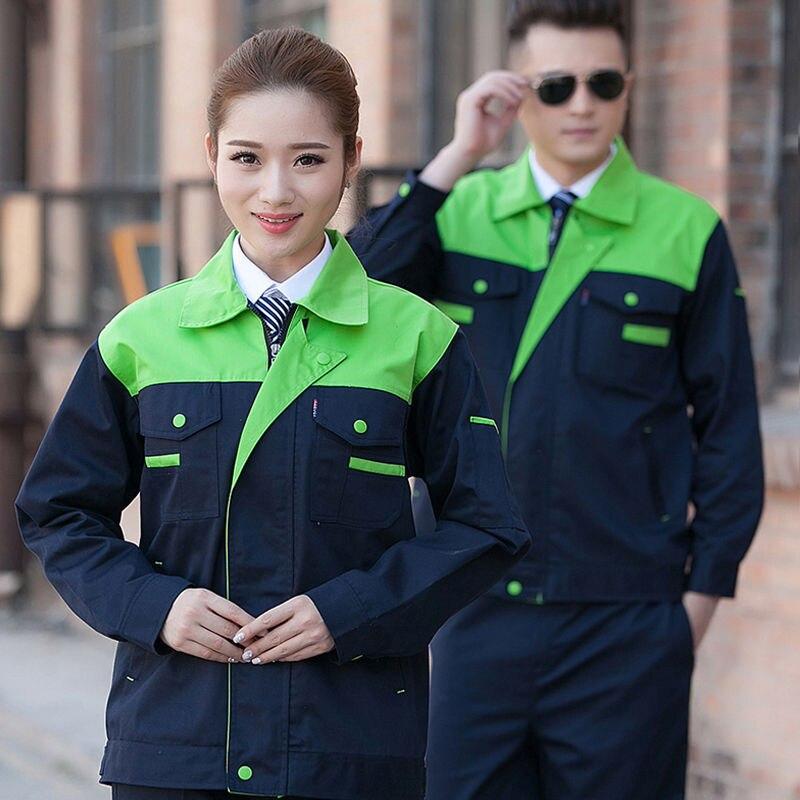 Рабочая одежда для мужчин и женщин, толстый износостойкий комплект на заказ с длинными рукавами, строительная площадка, авторемонт, одежда ...
