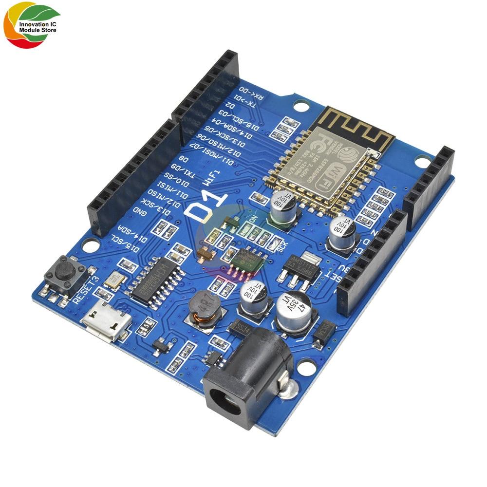 Ziqqucu WeMos D1 WiFi  R3 Development Board Based ESP8266 ESP-12E ESP-12 Wireless WIFI Module for Arduino IDE