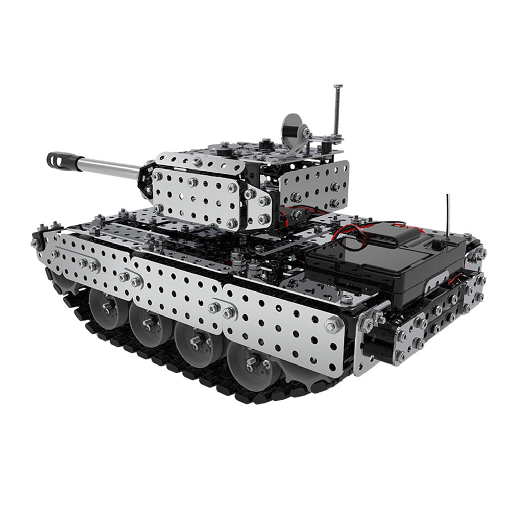 DIY Puzzle Toy Kids Educational Toy Stainless Steel Remote Control Tank DIY Assembling Puzzle Kids Educational Toys enlarge