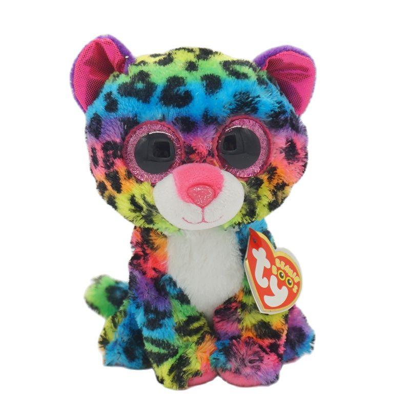 Ty Beanie Boos Big Eyes 6 15 cm Dotty Leopard Plush Stuffed Toy Animal Doll Collection Accompany Sleeping Boys and Girls Gift new 6 15cm ty kipper the kangaroo plush stuffed animal collectible soft big eyes doll toy christmas gift