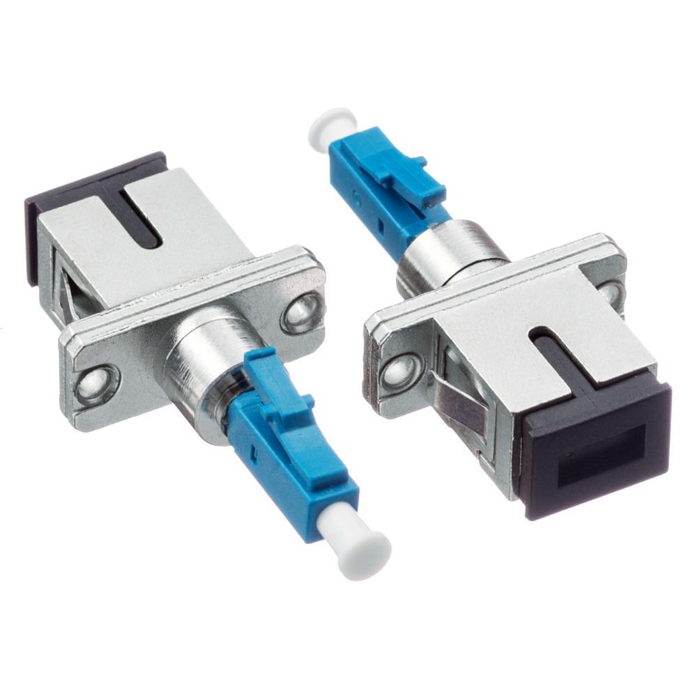 Adaptador óptico de fibra óptica para motocicleta, 2 unids/lote SC hembra a LC macho LC/UPC-SC/fibra UPC