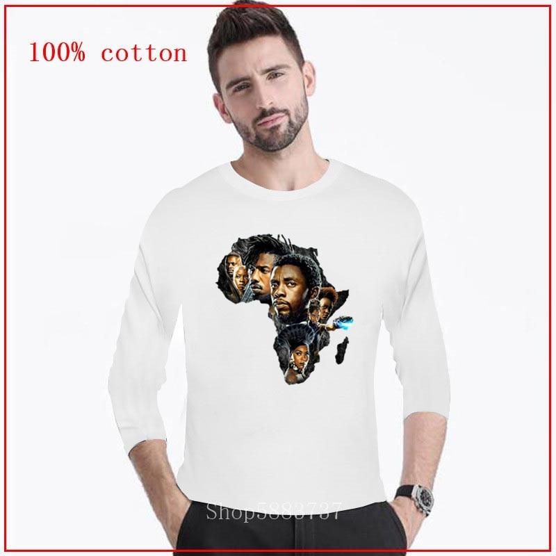 2020 nova camisa masculina pantera preta wakanda t-shirts masculinas camisetas longas casual camiseta masculina topo o-pescoço tees de alta qualidade