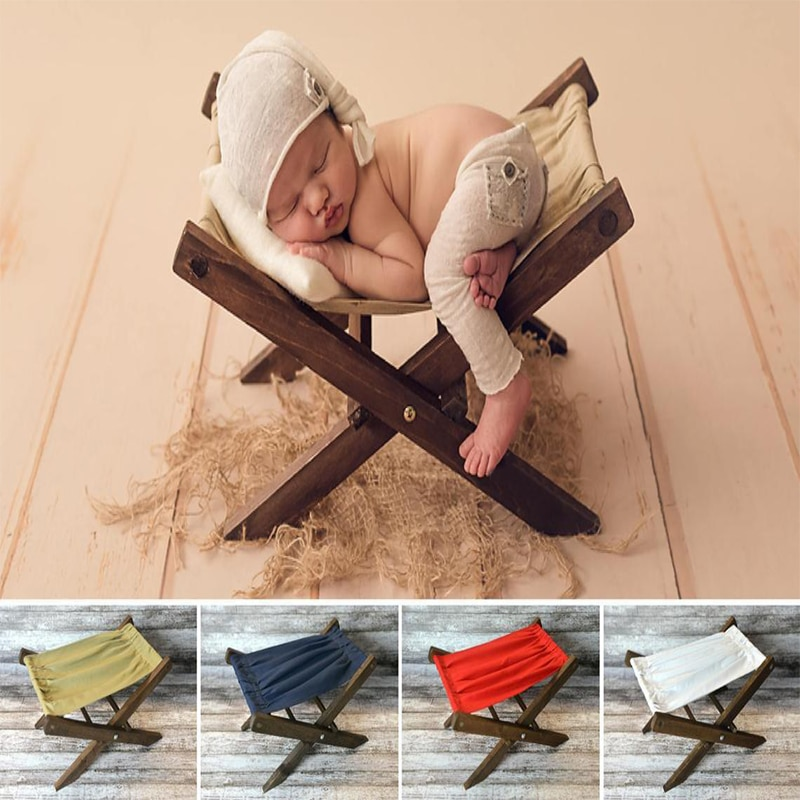 Newborn Photography Props Wooden Bed Solid Wood Shooting Photo Removable Prop Assembly For Full Moon Hundred Days Baby enlarge