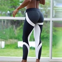 2pcs quick dry printed fitness legging honeycomb digital printed leggings high waist hip breathable polyester women leggings