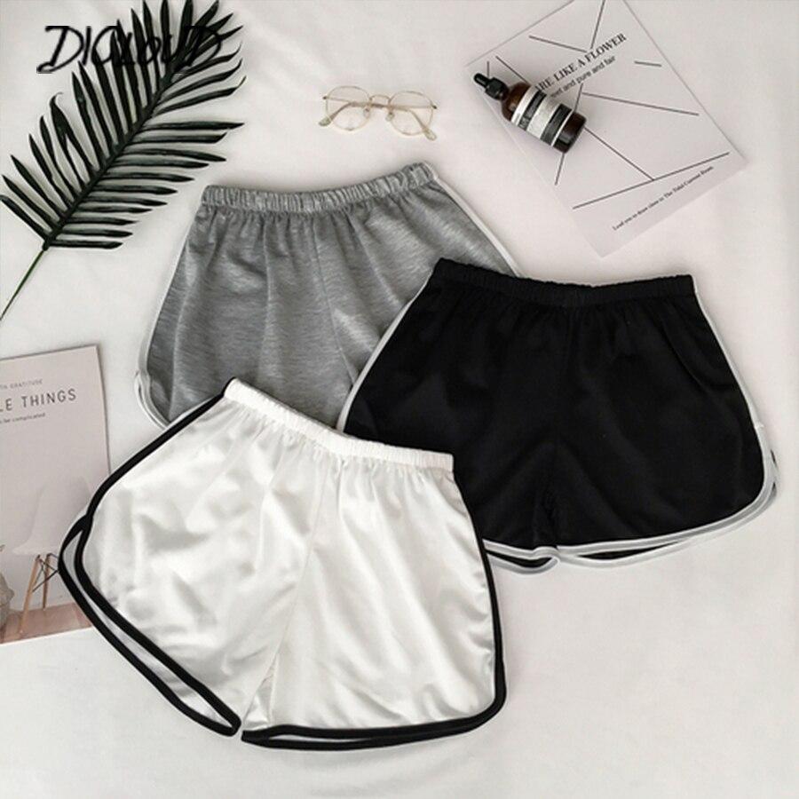 2020 простые женские повседневные шорты, лоскутные, для тела, для фитнеса, для тренировок, летние шорты, женские, эластичные, обтягивающие, тон...