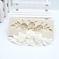 1pc flowers lace silicone molds baby birthday fondant cake decorating tools chocolate cake candy clay molds ftm1982