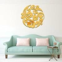 Autocollant Mural miroir 3D en forme de nuage  amovible et auto-adhesif  pour salon  chambre a coucher  maison