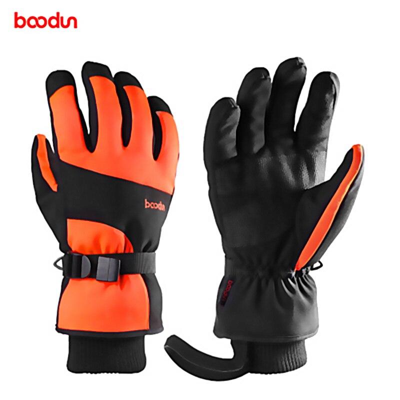 Boodun Winter Outdoor Sports Men Women Riding Thick Waterproof Windproof Full Finger Touch Ski Snow Warm Extended Wrist Gloves enlarge