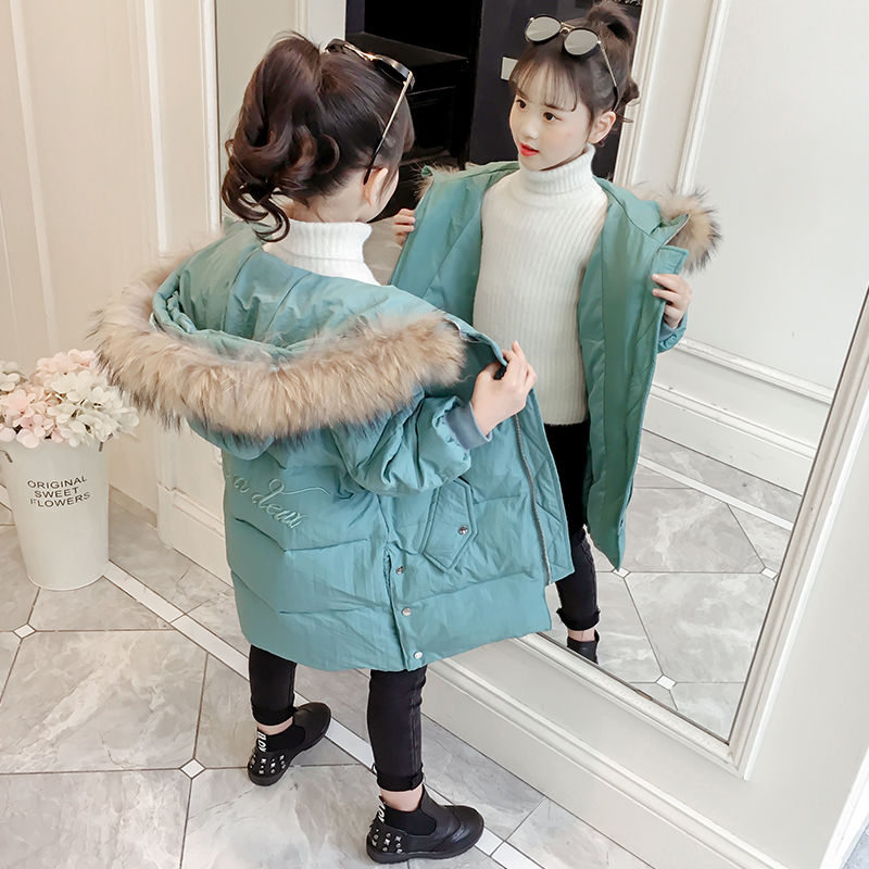 2020 Winter Children's Casual Outerwear Coat Girl Warm Hooded Jacket Children Cotton-Padded Clothes Kids Warm Down Parka W744 enlarge