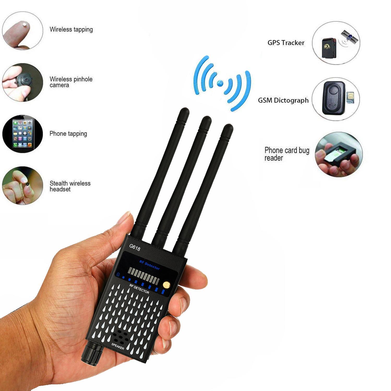 G618 Bug Detector Anti Spy 3 Antenna RF CDMA Signal Finder GSM Bug GPS Tracker Wireless Hidden Camera Eavesdropping Spy Goods