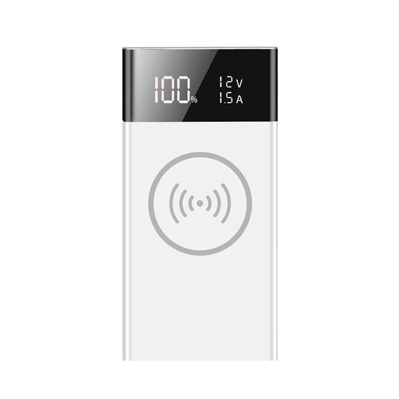 Cargador inalámbrico Qi de 6x18650 batería QC3.0 USB tipo C PD caja de Banco de energía 24BB