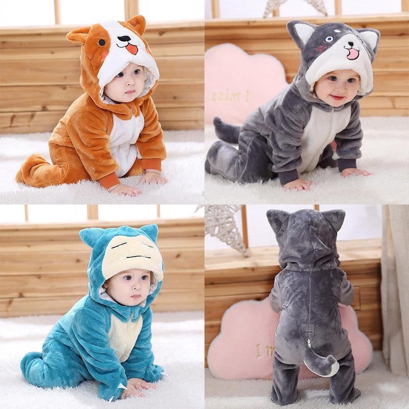 SAILEROAD Cute Husky Dog Kigurumi baby Kids Cartoon Animal Cosplay Costume Warm Soft Flannel Onesie Cute Dog Pajamas Body Suits