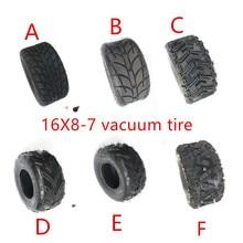 16X8-7 inch Vacuum Tire 16 * 8-7(200/55-7)  Highway Tyre Wear-resistant Wheel Tires for KARTING ATV UTV Buggy GO KART