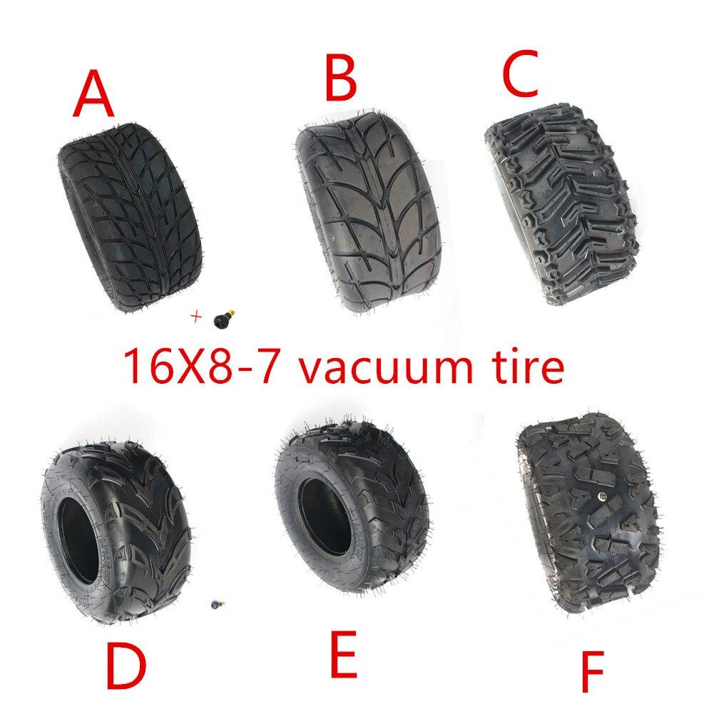 Neumático de vacío de 16X8-7 pulgadas 16*8-7 (200/55-7) neumáticos de carretera resistentes al desgaste neumáticos de ruedas para KARTING ATV UTV Buggy GO KART