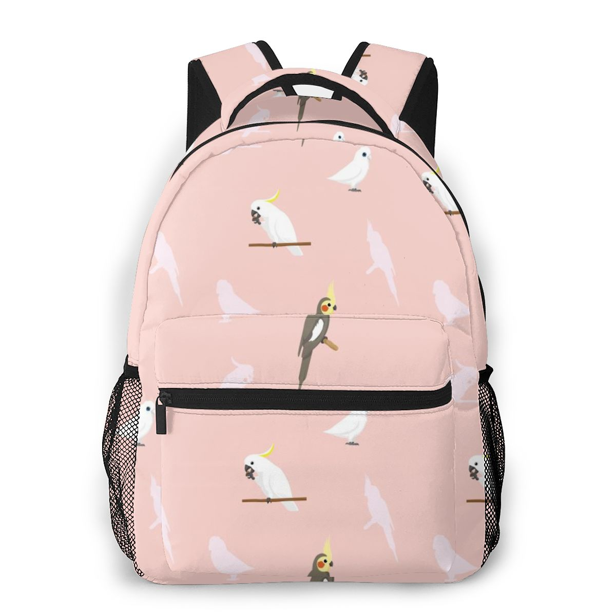 2021 حقيبة ظهر للسفر مضحك الطيور من الببغاء كوكاتيل كوريلا كوكاتو فتاة على ظهره سعة حقيبة مدرسية للمراهقين