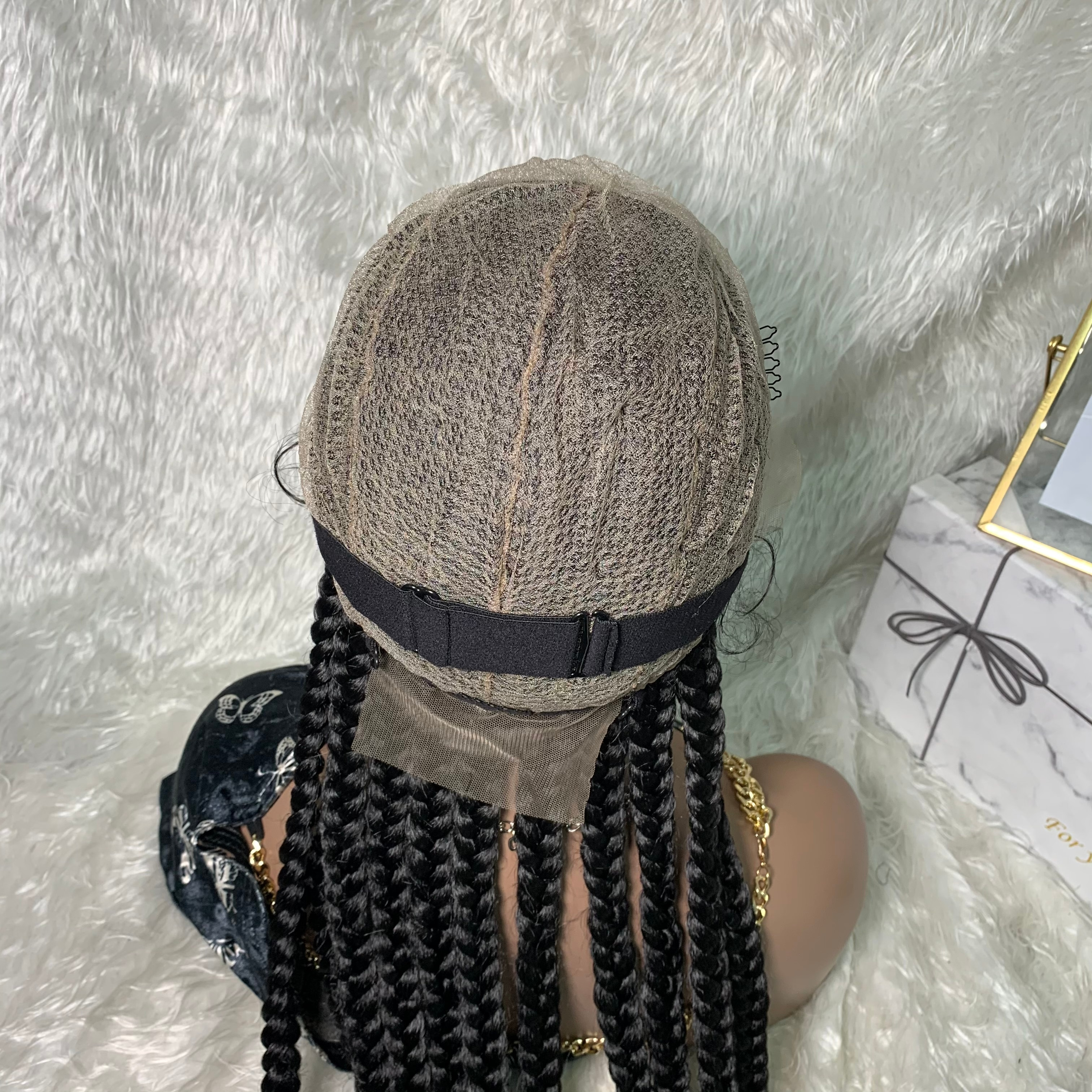 Braided Wigs Lace Front Synthetic Wig Frontal  Box TOOCCI 30 INCH Long Hair Braiding Hair Crochet Braied For Synthetic Black enlarge