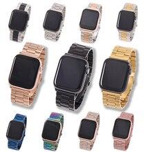 Correa de Metal para Apple Watch6, 5, 4, 3, 2, 1, 42mm, 38mm, 40MM, 44MM, accesorios de la serie iWatch