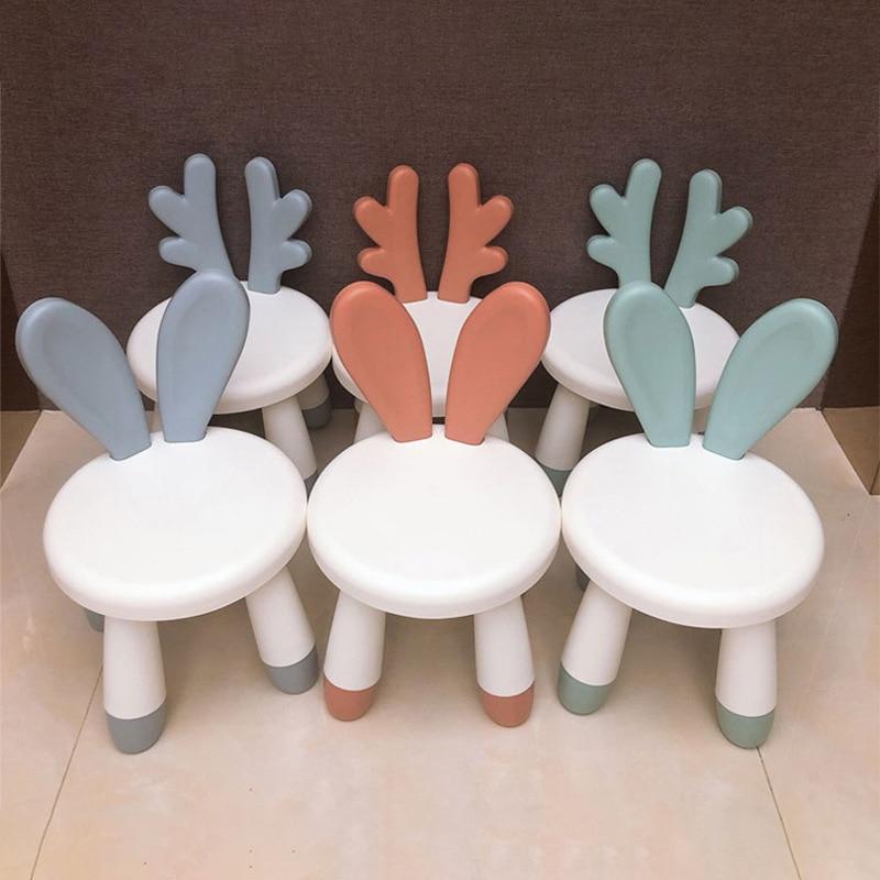 Новая детская мебель, детский стул, Детская подножка, домашняя скамья, кролик, олень, детский стул, милый кролик, подарок