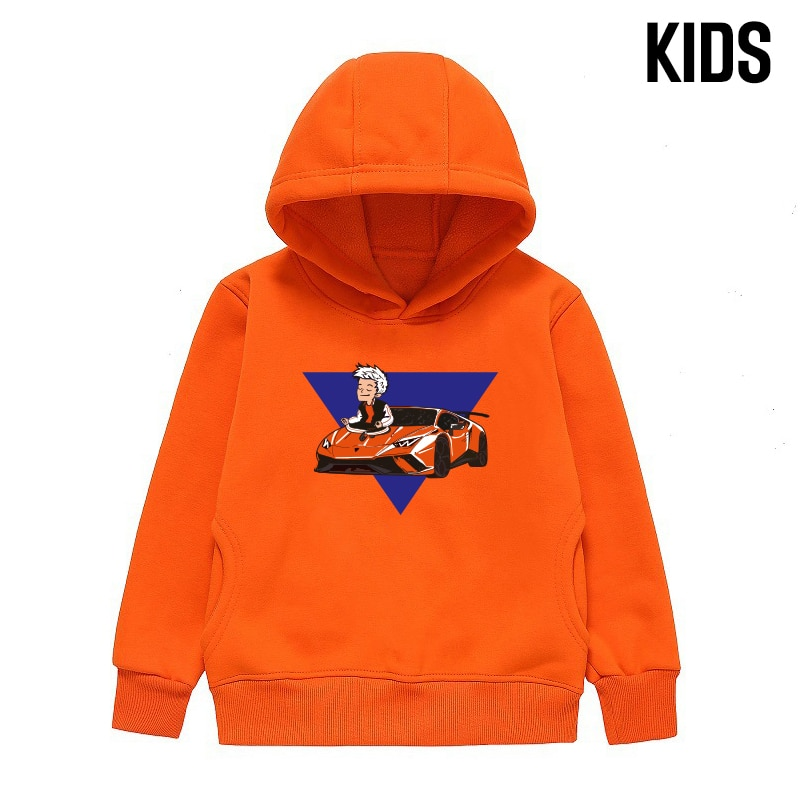 Kid's Merch A4 Lamba Hoodie Spring Autumn Boy's Thicked Hooded Sweatshirts Casual Parent Family Clot