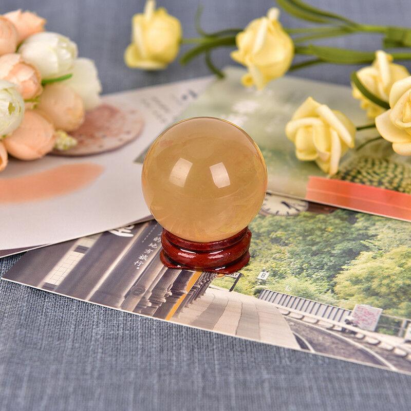 Bola de cristal de calcita amarilla, piedras naturales minerales, piedras curativas, gemas...