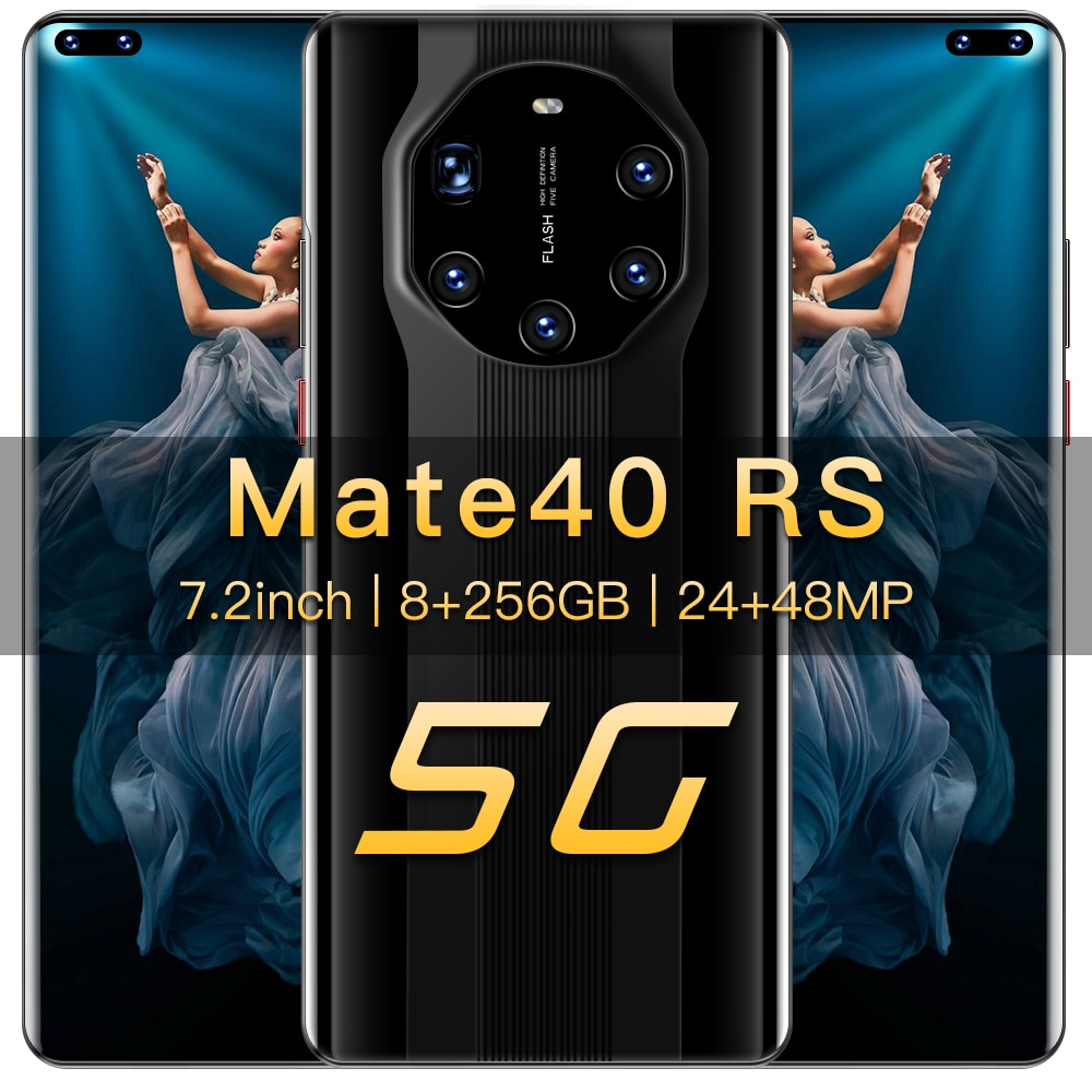 New 7.2 Inch 4G/5G Smartphone 8+256GB Large Memory Dual Sim Cards Bluetooth Wifi HD Camera Mobile Phone Android 10.0 Ten Core enlarge