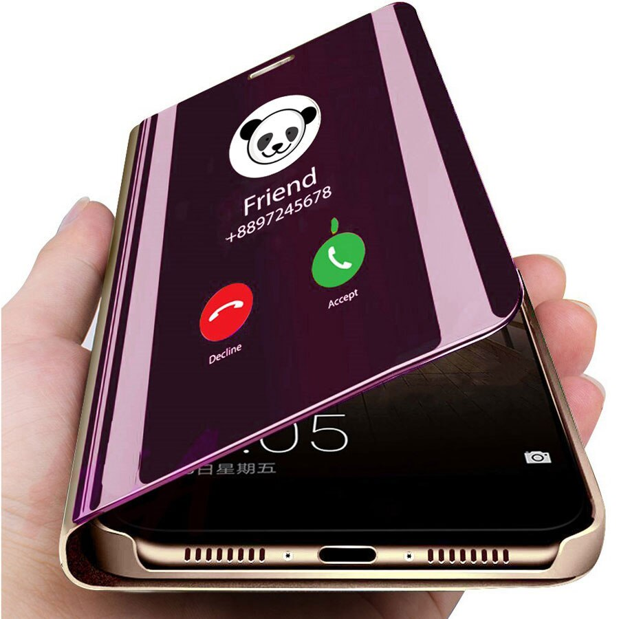 Smart Mirror Phone Case For Samsung Galaxy S20 S10 S8 S9 S7 S6 Edge Plus S10e A51 A71 A50 A30s M20 M