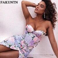 fakuntn women vintage floral skirt suit summer sexy crop top and irregular split skirt two piece set women beach vacation outfit