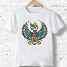 Camiseta de dibujos animados Ojo de Horus para niños/niñas, camisetas casuales lindas, Harajuku, cuello redondo, camisetas de manga corta, Top de estilo coreano
