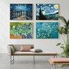 Famous Artist Van Gogh Oil Painting  Starry Sky Iris Flower Sunrise Landscape Canvas Painting Print Poster Picture Wall Decor