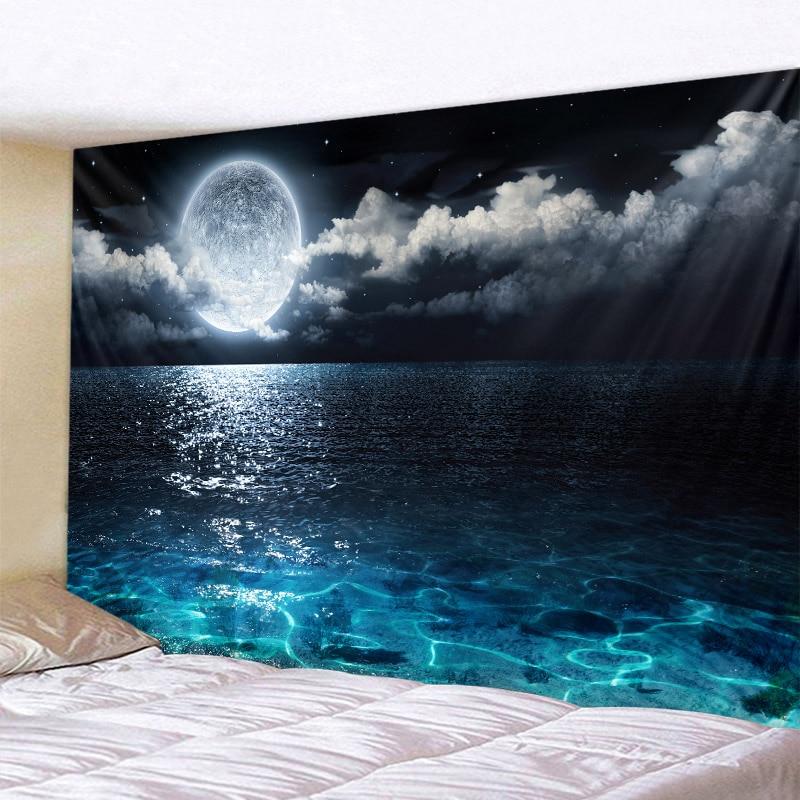 Ночное небо океан гобелены 3D волшебной фантазии звёздное небо гобелен настенный спальня гостиная для общежития настенные украшения искусс...