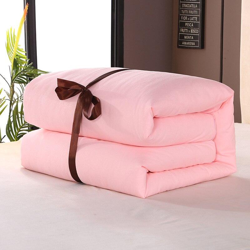 لحاف الفراش الأبيض الرمادي عالية الجودة الحرير الطبيعي بدلا من مبطن الفراش حاف إدراج تنفس كامل/كبير سرير مزدوج