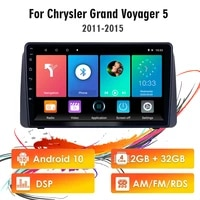 eastereggs 9 inch 2 din android 10 rds dsp car radio for chrysler grand voyager 5 2011 2015 fm bt wifi gps navigation head unit