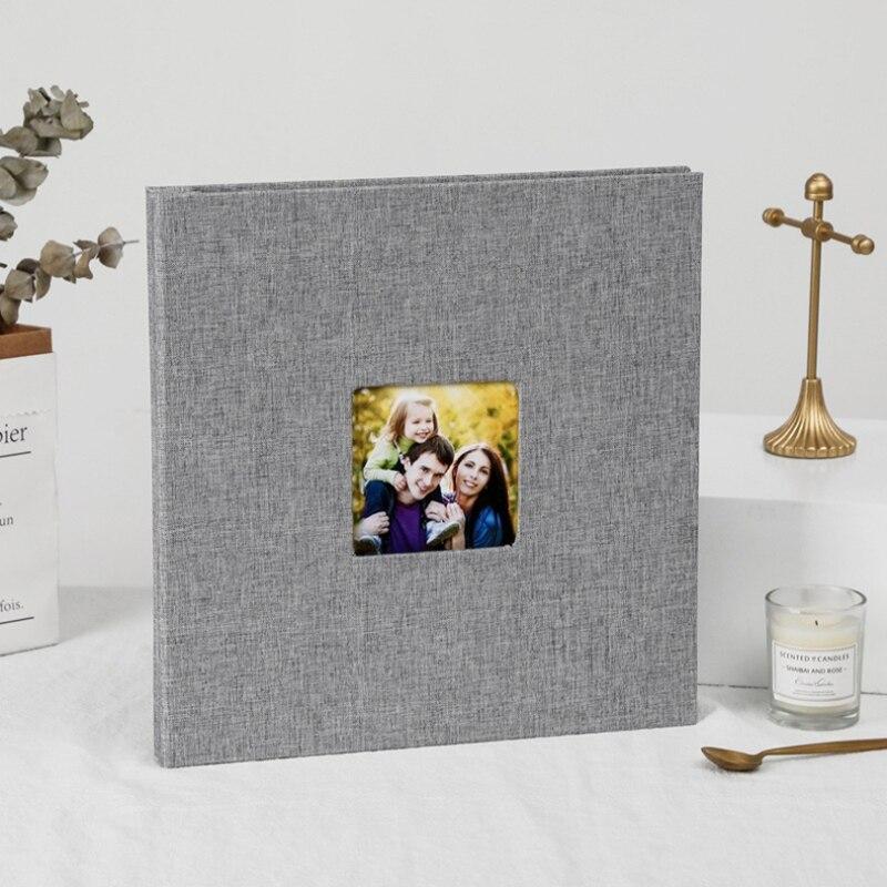 2020 linho 16 polegada diy álbum de fotos amantes presente de aniversário casamento fotos do bebê foto ablum scrapbook papel artesanato álbuns pegajoso foto