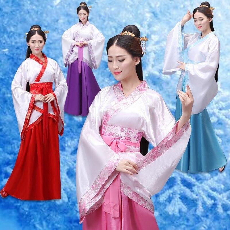Chinese Traditional Dress Hanfu Women Dance Costume Opera Performance Ancient Cosplay Robe