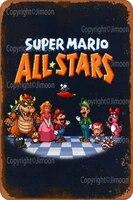 Affiche murale retro en metal de Super Mario  toutes les etoiles  Plaque murale Vintage personnalisee  decor de Bar  Pub  diner  cafe  maison  garage