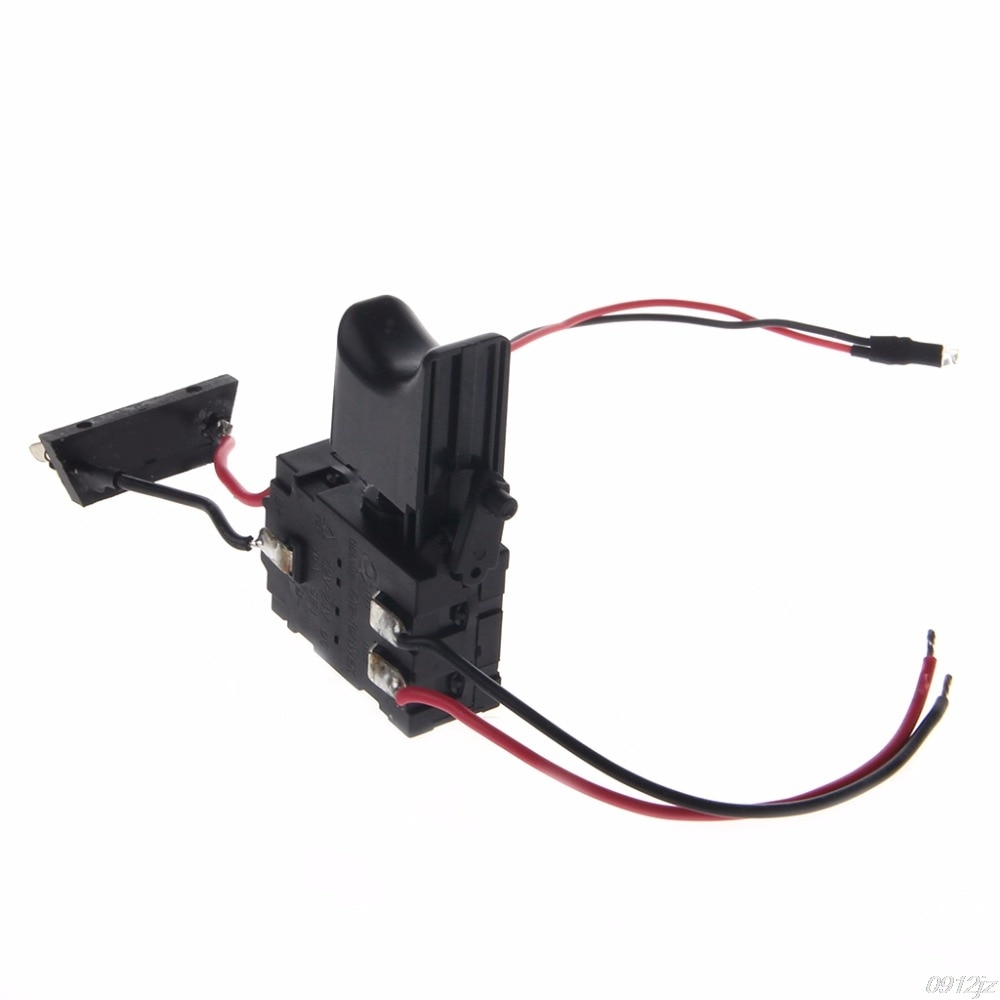 Electric Drill Dustproof Speed Control Push Button Trigger Switch DC 7.2-24V Switches