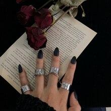 HZ панк крутые хип-хоп Многослойные Регулируемые Цепи, четыре пальца, открытый сплав, вращающиеся кольца для женщин, мужчин, пар, вечерние, подарок
